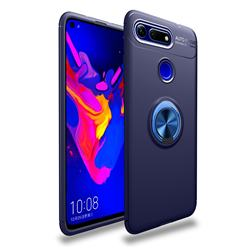 Auto Focus Invisible Ring Holder Soft Phone Case for Huawei Honor View 20 / V20 - Blue