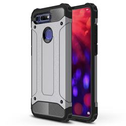 King Kong Armor Premium Shockproof Dual Layer Rugged Hard Cover for Huawei Honor View 20 / V20 - Silver Grey