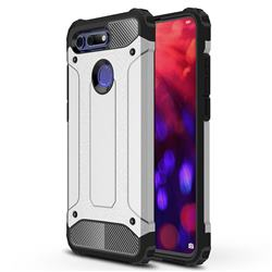 King Kong Armor Premium Shockproof Dual Layer Rugged Hard Cover for Huawei Honor View 20 / V20 - Technology Silver