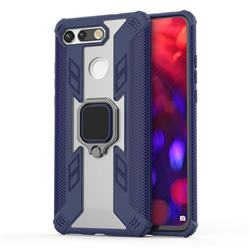 Predator Armor Metal Ring Grip Shockproof Dual Layer Rugged Hard Cover for Huawei Honor View 20 / V20 - Blue