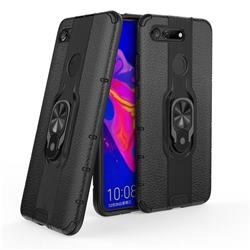 Alita Battle Angel Armor Metal Ring Grip Shockproof Dual Layer Rugged Hard Cover for Huawei Honor View 20 / V20 - Black