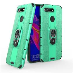 Alita Battle Angel Armor Metal Ring Grip Shockproof Dual Layer Rugged Hard Cover for Huawei Honor View 20 / V20 - Green