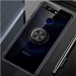 Anti-fall Invisible Press Bounce Ring Holder Phone Cover for Huawei Honor View 20 / V20 - Elegant Black
