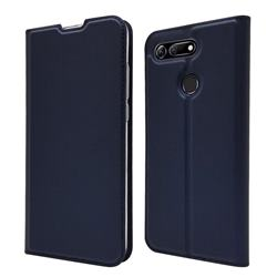 Ultra Slim Card Magnetic Automatic Suction Leather Wallet Case for Huawei Honor View 20 / V20 - Royal Blue