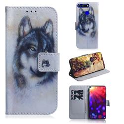 Snow Wolf PU Leather Wallet Case for Huawei Honor View 20 / V20