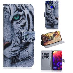 White Tiger PU Leather Wallet Case for Huawei Honor View 20 / V20