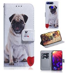 Pug Dog PU Leather Wallet Case for Huawei Honor View 20 / V20