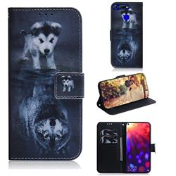 Wolf and Dog PU Leather Wallet Case for Huawei Honor View 20 / V20