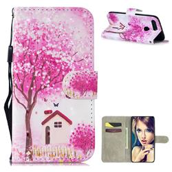 Tree House 3D Painted Leather Wallet Phone Case for Huawei Honor View 20 / V20