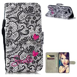 Lace Flower 3D Painted Leather Wallet Phone Case for Huawei Honor View 20 / V20