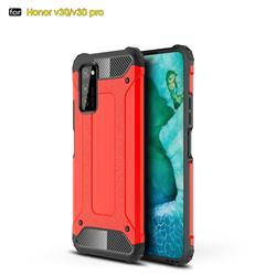 King Kong Armor Premium Shockproof Dual Layer Rugged Hard Cover for Huawei Honor View 30 / V30 - Big Red