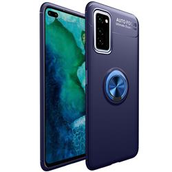 Auto Focus Invisible Ring Holder Soft Phone Case for Huawei Honor View 30 Pro / V30 Pro - Blue