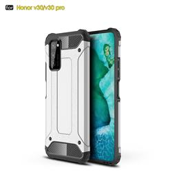King Kong Armor Premium Shockproof Dual Layer Rugged Hard Cover for Huawei Honor View 30 Pro / V30 Pro - White