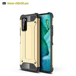 King Kong Armor Premium Shockproof Dual Layer Rugged Hard Cover for Huawei Honor View 30 Pro / V30 Pro - Champagne Gold