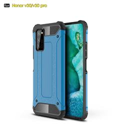 King Kong Armor Premium Shockproof Dual Layer Rugged Hard Cover for Huawei Honor View 30 Pro / V30 Pro - Sky Blue