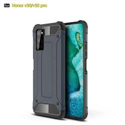 King Kong Armor Premium Shockproof Dual Layer Rugged Hard Cover for Huawei Honor View 30 Pro / V30 Pro - Navy