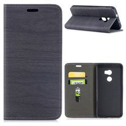 Tree Bark Pattern Automatic suction Leather Wallet Case for HTC One X10 X 10 - Gray