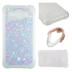 Dynamic Liquid Glitter Sand Quicksand Star TPU Case for Huawei Y3 (2017) - Pink