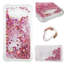 Dynamic Liquid Glitter Sand Quicksand Star TPU Case for Huawei Y3 (2017) - Diamond Rose