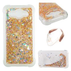 Dynamic Liquid Glitter Sand Quicksand Star TPU Case for Huawei Y3 (2017) - Diamond Gold