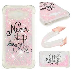 Never Stop Dreaming Dynamic Liquid Glitter Sand Quicksand Star TPU Case for Huawei Y3 (2017)