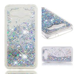 Dynamic Liquid Glitter Quicksand Sequins TPU Phone Case for Huawei Y3 (2017) - Silver