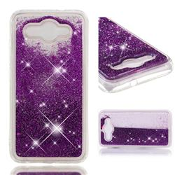 Dynamic Liquid Glitter Quicksand Sequins TPU Phone Case for Huawei Y3 (2017) - Purple