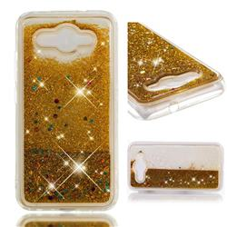 Dynamic Liquid Glitter Quicksand Sequins TPU Phone Case for Huawei Y3 (2017) - Golden