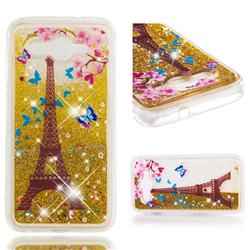 Golden Tower Dynamic Liquid Glitter Quicksand Soft TPU Case for Huawei Y3 (2017)
