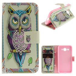Weave Owl PU Leather Wallet Case for Huawei Y3 (2017)