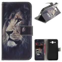 Lion Face PU Leather Wallet Case for Huawei Y3 (2017)