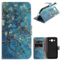 Apricot Tree PU Leather Wallet Case for Huawei Y3 (2017)