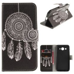 Black Wind Chimes PU Leather Wallet Case for Huawei Y3 (2017)