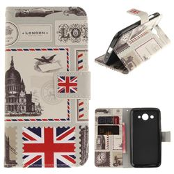 London Envelope PU Leather Wallet Case for Huawei Y3 (2017)
