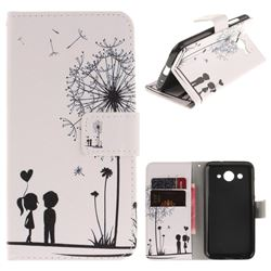 Couple Dandelion PU Leather Wallet Case for Huawei Y3 (2017)