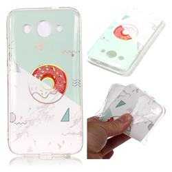 Donuts Marble Pattern Bright Color Laser Soft TPU Case for Huawei Y3 (2018)