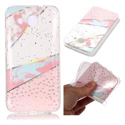Matching Color Marble Pattern Bright Color Laser Soft TPU Case for Huawei Y3 (2018)