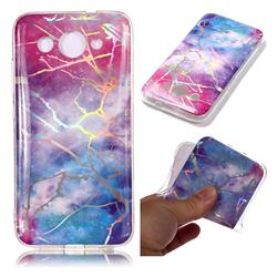 Dream Sky Marble Pattern Bright Color Laser Soft TPU Case for Huawei Y3 (2018)