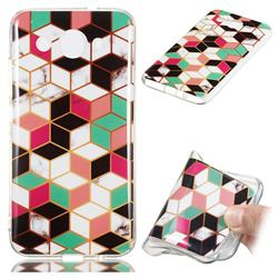 Three-dimensional Square Soft TPU Marble Pattern Phone Case for Huawei Y3 (2018)