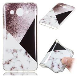 Black white Grey Soft TPU Marble Pattern Phone Case for Huawei Y3 (2018)