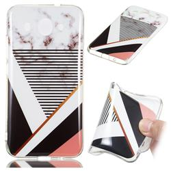 Pinstripe Soft TPU Marble Pattern Phone Case for Huawei Y3 (2018)