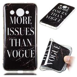 Stylish Black Soft TPU Marble Pattern Phone Case for Huawei Y3 (2018)