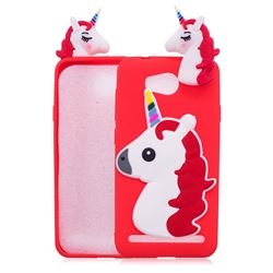 Unicorn Soft 3D Silicone Case for Huawei Y3II Y3 2 Honor Bee 2 - Red