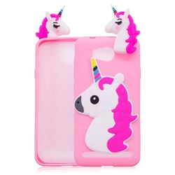 Unicorn Soft 3D Silicone Case for Huawei Y3II Y3 2 Honor Bee 2 - Rose