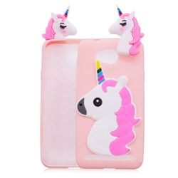 Unicorn Soft 3D Silicone Case for Huawei Y3II Y3 2 Honor Bee 2 - Pink