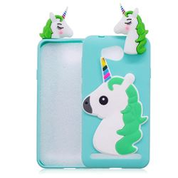 Unicorn Soft 3D Silicone Case for Huawei Y3II Y3 2 Honor Bee 2 - Baby Blue