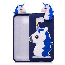 Unicorn Soft 3D Silicone Case for Huawei Y3II Y3 2 Honor Bee 2 - Dark Blue