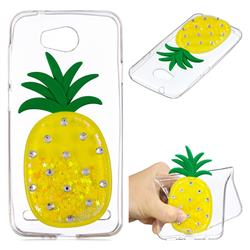 Yellow Pineapple Liquid Quicksand Soft 3D Cartoon Case for Huawei Y3II Y3 2 Honor Bee 2