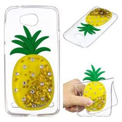 Gold Pineapple Liquid Quicksand Soft 3D Cartoon Case for Huawei Y3II Y3 2 Honor Bee 2