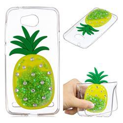 Green Pineapple Liquid Quicksand Soft 3D Cartoon Case for Huawei Y3II Y3 2 Honor Bee 2
